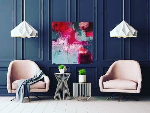 """Paintings by Jeanette Goulart seen at Private Residence, Clovis - """"Big ol' scrumptious scribbles"""" Painting"""
