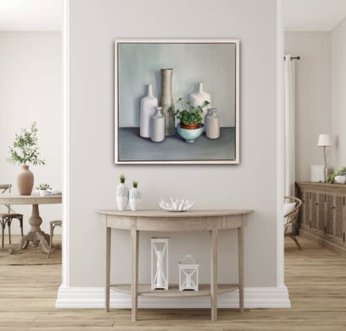 Paintings by Jonquilsart - Pots with succulent