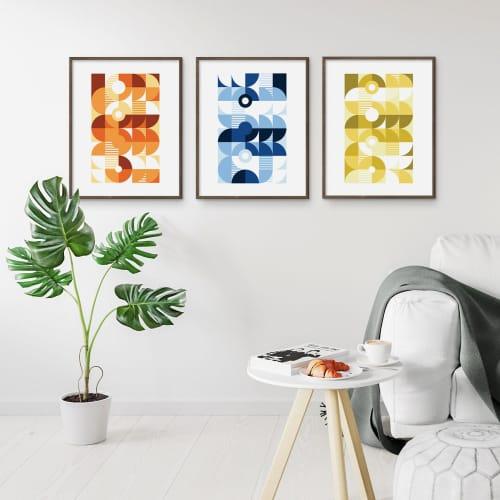 Art & Wall Decor by Michael Grace & Co seen at Creator's Studio, Seattle - Monochromatic Machine Series — 3 Print Set