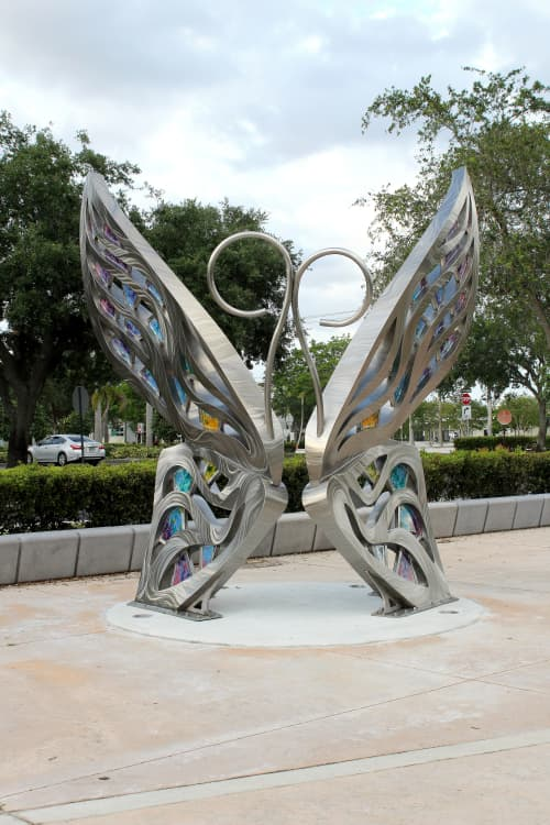 Public Sculptures by Amie Jacobsen Art and Design seen at Coral Springs, Coral Springs - Give Them Wings