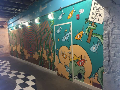 Indoor Mural at Mayday Brewery | Murals by Ryan Frizzell (The Rhinovirus) | Mayday Brewery in Murfreesboro