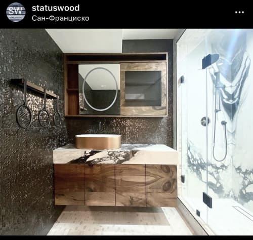 Furniture by STATUSWOOD seen at San Francisco, CA, San Francisco - Bathroom