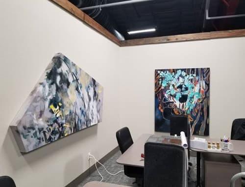 Paintings by Lisa Rachel Horlander seen at WorkHub, Tyler - Abated Force