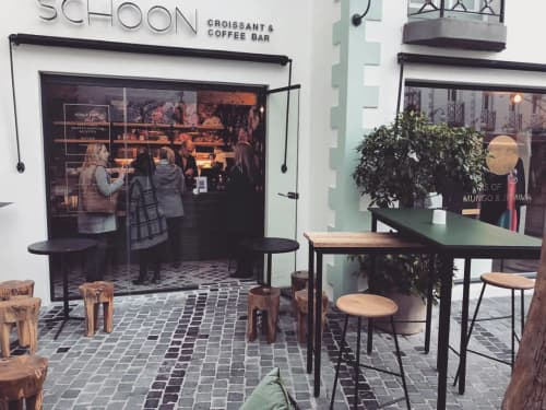 Chairs by Louw Roets at SCHOON Croissant & Coffee Bar, Stellenbosch - Bar Chairs
