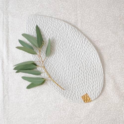Ceramic Plates by Boya Porcelain - Blanche Carved Serving Porcelain Platter