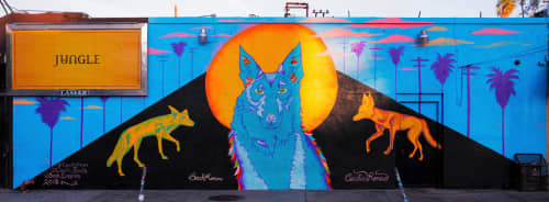 'Coyote Fever' | Murals by Cecilia Paints | Little Joy Cocktails in Los Angeles