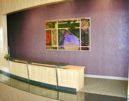 Paintings by Lisa Tureson  STUDIO ARTISTICA seen at James Madison University, Harrisonburg - Geometry
