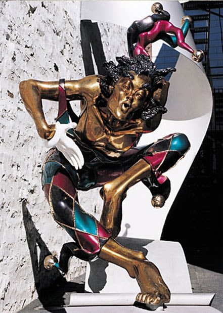 Le Grand Bienvenue | Public Sculptures by Nicole Taillon | Monsieur Jean. L'hôte particulier in Québec