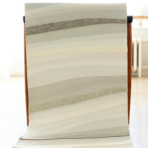 Wallpaper by Jill Malek Wallpaper - River | Dimensional Felt