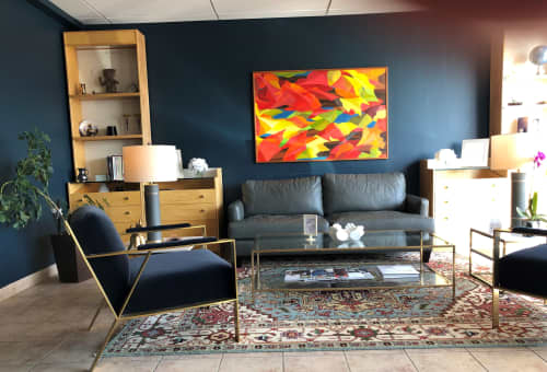North Wind | Paintings by Candace Wilson Art Studio | Ontario Hyperbaric Oxygen Therapy Centre in Toronto