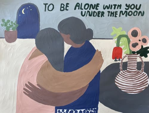 To Be Alone With You Under the Moon | Paintings by Carissa Potter || People I've Loved
