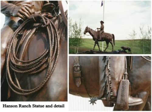 Hanson Ranch Statue | Public Sculptures by Don Begg / Studio West Bronze Foundry & Art Gallery