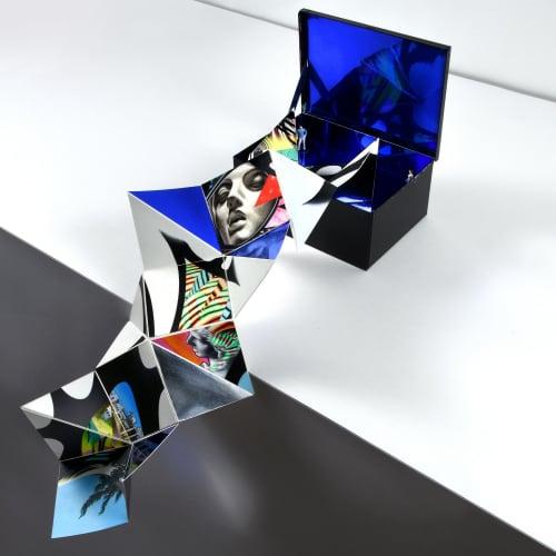 """Sculptures by Peter D. Gerakaris Studio seen at Mikonos, Mikonos - """"Pandora's Box"""" - Mykonos Biennale 2019"""