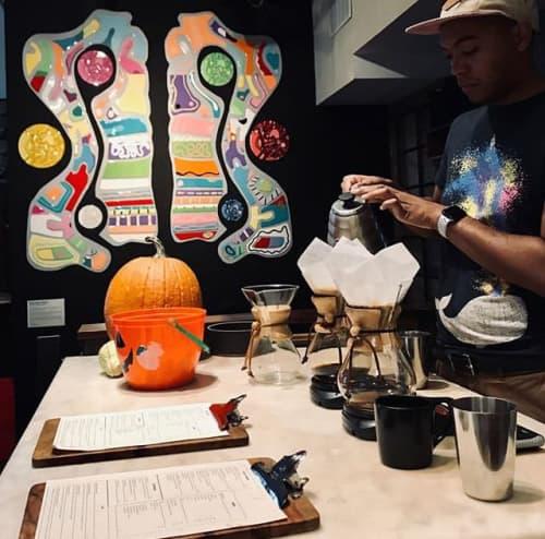 Paintings by Jfrancisdesigns at Elixr Coffee Roasters, Philadelphia - Mural Installation