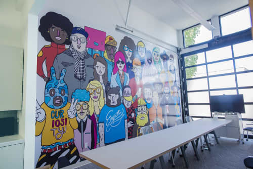 Murals by Chairman Ting Industries Inc. at POWERSHiFTER, Vancouver - POWERSHiFTER Mural Project