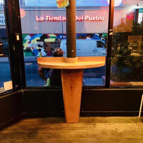 Furniture by HerlanderArt seen at Coffee Mob, Brooklyn - Coffee Station