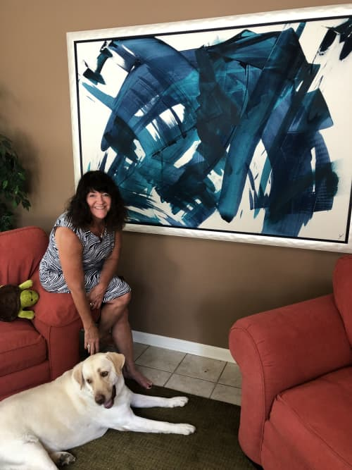 Paintings by Jen Sterling seen at Private Residence, Naples - Stand With Strength