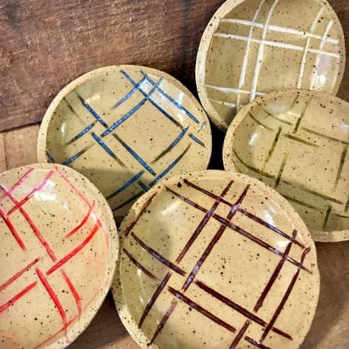 Spoon/Tea Bag Trivet, Plaid | Tableware by Honey Bee Hill Ceramics