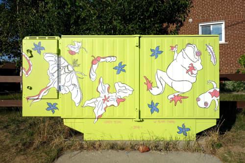 Look! In the Grass! | Street Murals by Loren Yeung