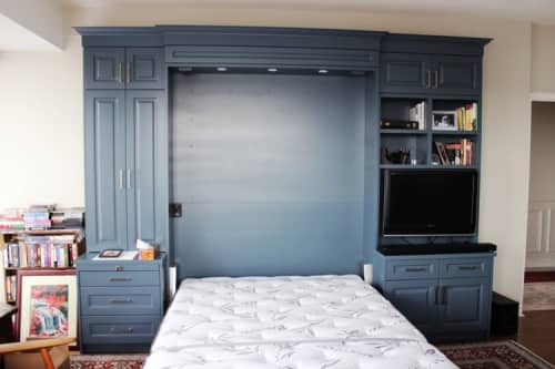 Bedroom organizer with built-in 'Murphy Bed' | Furniture by Hamilton Holmes