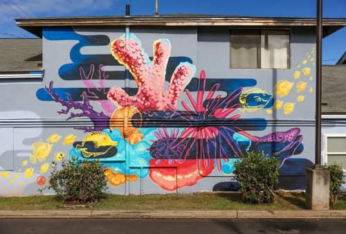 Street Murals by Joey Rose seen at Wailuku, Wailuku - NATIVE PROTECTOR