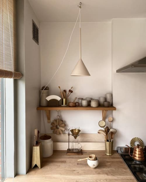 Cone Lamp | Pendants by SCHNEID STUDIO | Tinta Luhrman (Woodchuck) Home in Monster