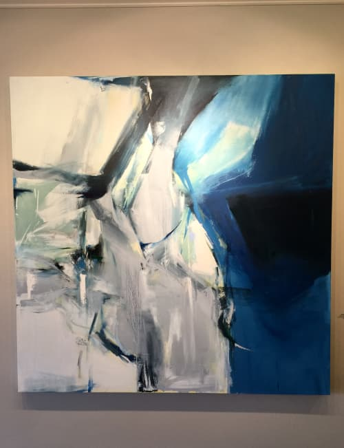 """Abstract Painting """"River into the Sound"""" 