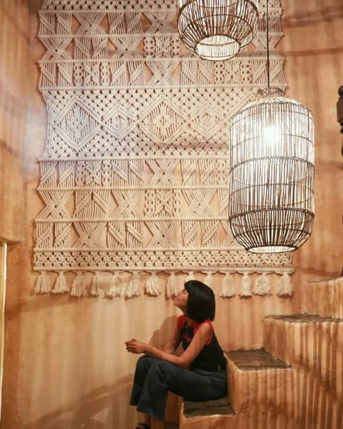 Macrame Wall Hanging by Agnes Hansella seen at Private Residence, Jakarta - STEVE