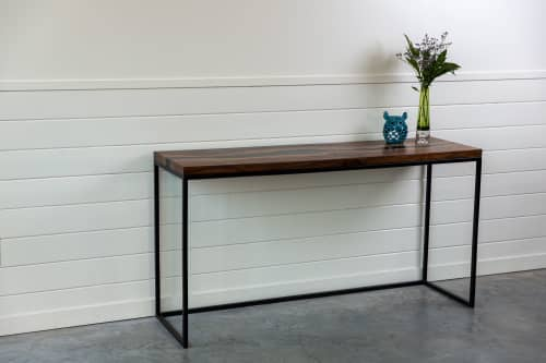 Bastogne Walnut Live Edge Resin Console Table | Resin Desk | | Tables by SAW Live Edge