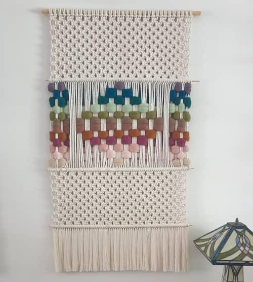 The Twins Apart I   Macrame Wall Hanging by Leonor MacraMaker