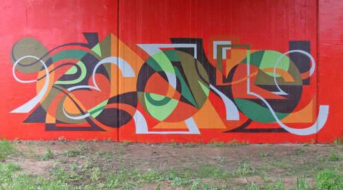 MWM Letterforms.   Murals by MATT W. MOORE