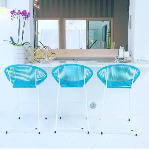 Chairs by Innit Designs seen at Private Residence, Palm Springs - Puerto Stool - Bar Height