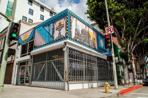 Murals by Isakov seen at BOLD Communication & Marketing LLC, Los Angeles - Water for all