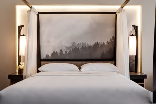 Bedside Table Lamps   Lamps by Bluebird Lighting   Archer Hotel Napa in Napa
