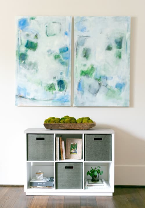 Gracefully Abstract I & II | Paintings by Jessica Whitley Studio
