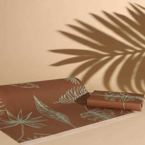 """Art & Wall Decor by Quinnarie Studio - """"Leaves"""" wrapping paper sheets"""