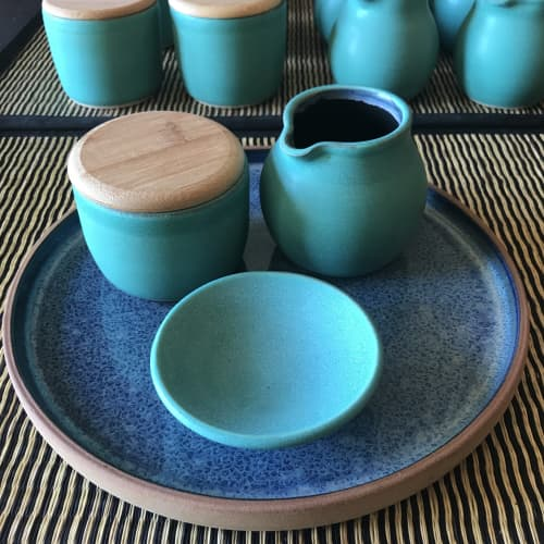 Cream And Sugar Set | Tableware by Tina Fossella Pottery