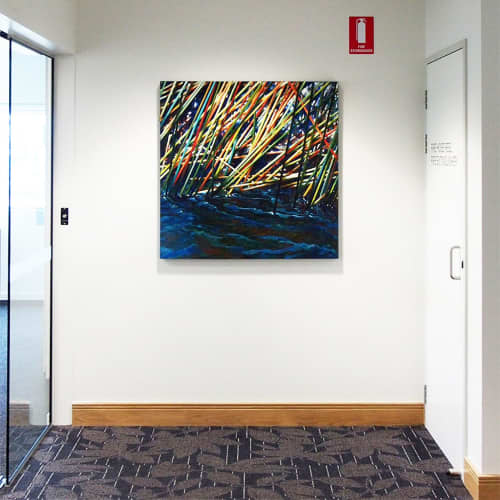 Paintings by Susan Schmidt at Sunshine Coast University Private Hospital, Birtinya - Blue Weaver_2012