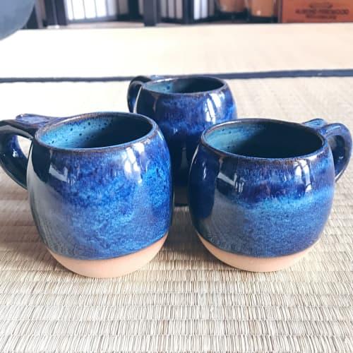 Indigo Rustic Coffee Mug   Cups by Tina Fossella Pottery
