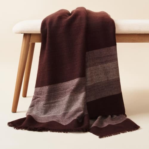 Resin Merino Throw / Bedspread | Linens & Bedding by Studio Variously