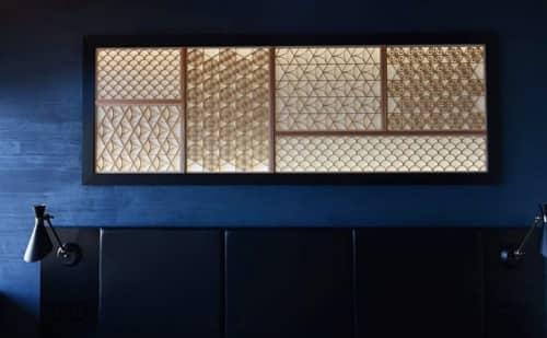 Kumiko Art MIYAKO   Lighting Design by RON DESIGN by Ryoko Ogoshi   Private Residence in Imabari