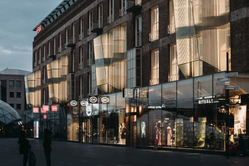 Architecture by Arnout Meijer Studio at 18 Septemberplein, Eindhoven - One Point Perspective Facade