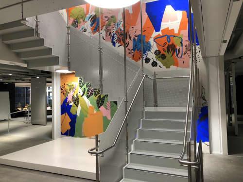Allianz Office Mural   Murals by Rebecca Wetzler
