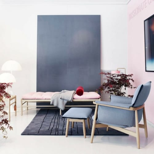 Rugs by Naja Utzon Popov seen at Private Residence, Tokyo - Woodlines, grey