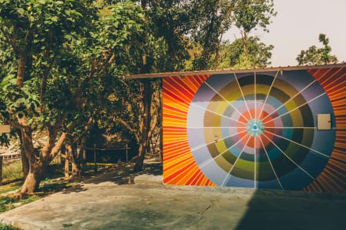 Murals by Maureen Walsh seen at Sattva Retreat, Jogiyana - You Are the Center
