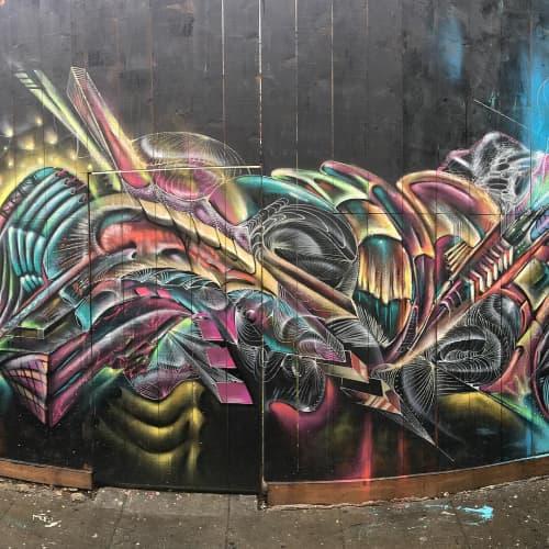 Murals by Max Ehrman (Eon75) seen at Pancho Villa Taqueria, San Francisco - Pancho Villa Taqueria Mural