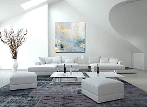 Paintings by Donna Bruni seen at Naples - Night Into Day, Original oil painting on custom built canvas