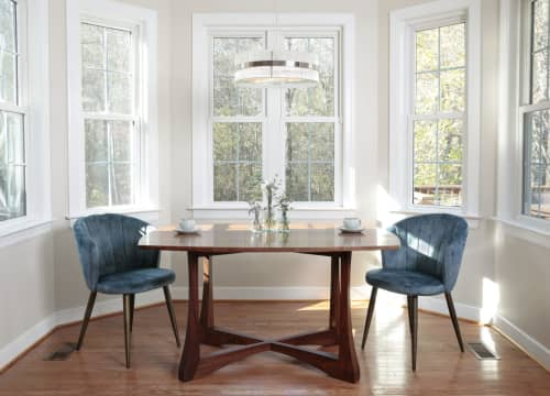 Tables by Alicia Dietz Studios seen at Private Residence, Richmond - Curved Top Dining Table (in Walnut)