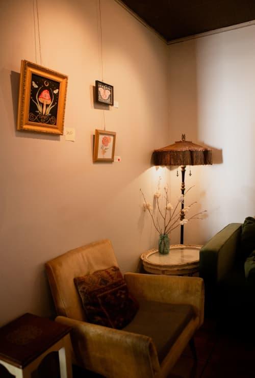 Magic Mushroom   Paintings by Jillian Selene Art   Shades of Brown Coffee & Art in Tulsa