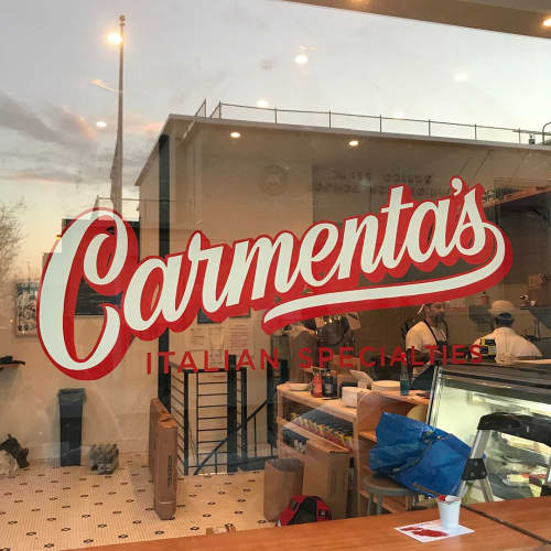 Custom Logo | Murals by Very Fine Signs | Carmenta's in Brooklyn